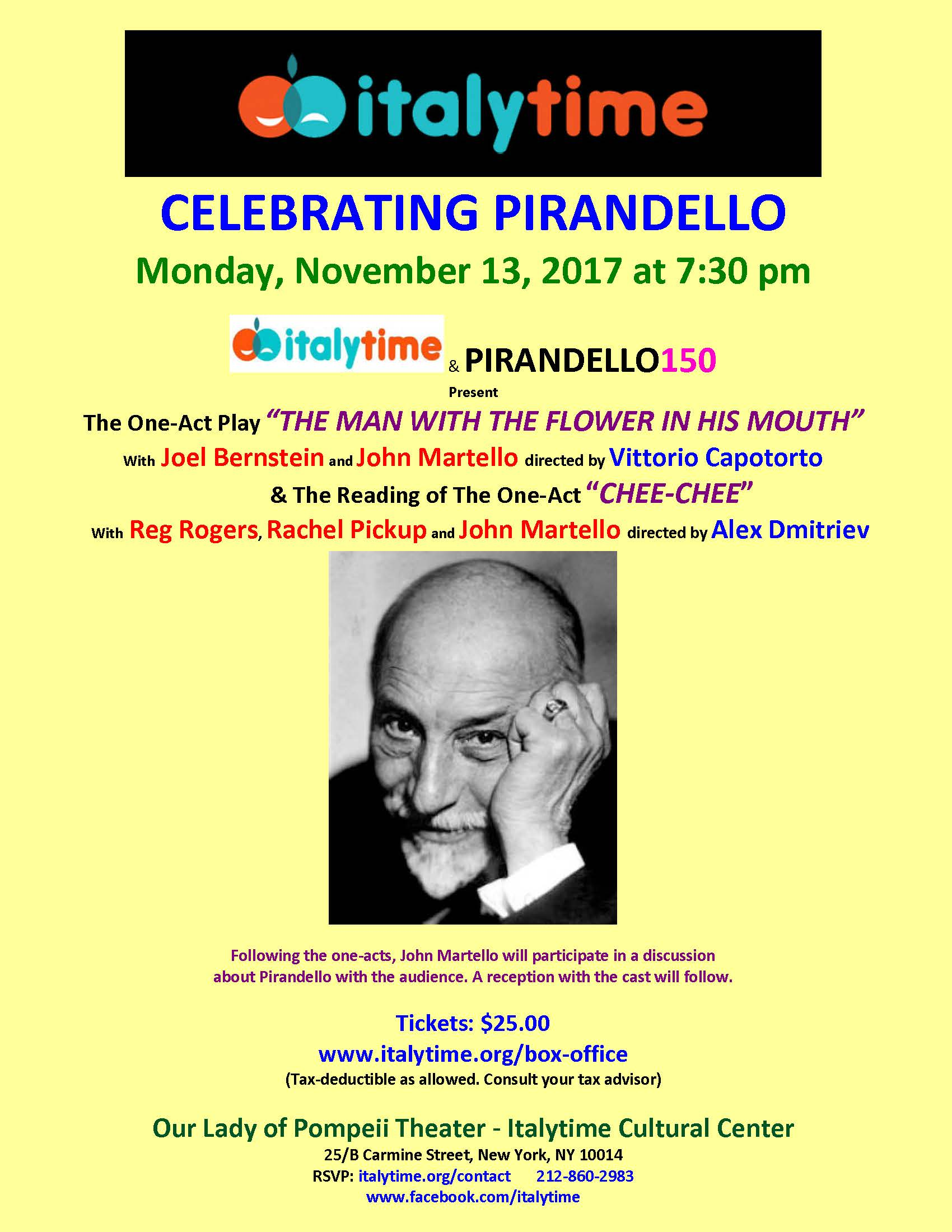 Playing Next: Celebrating Pirandello