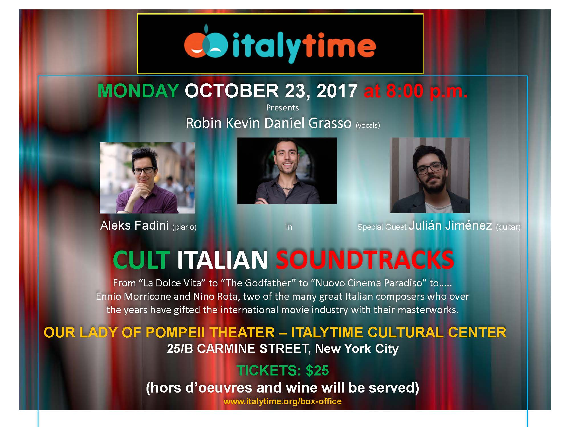 "PLAYING NEXT – Special Concert – ""Cult Italian Soundtracks"""